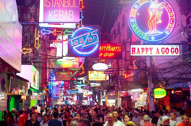 Pattaya is one of the most popular tourist destinations cabaret bars and 24-hour clubs.