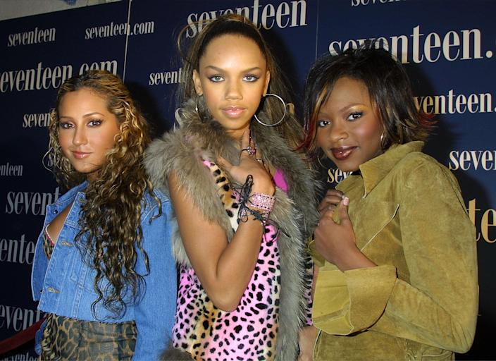 3LW arrive for the Seventeen Magazine concert and party October 26, 2001 at Roseland Ballroom in New York City. (Photo by George De Sota/Getty Images)