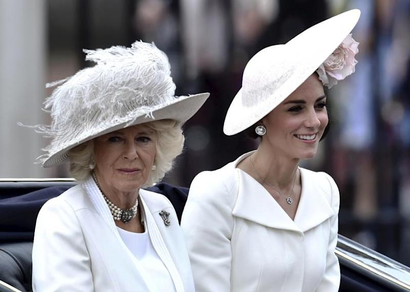 Duchess of Cornwall Camilla and Kate Middleton