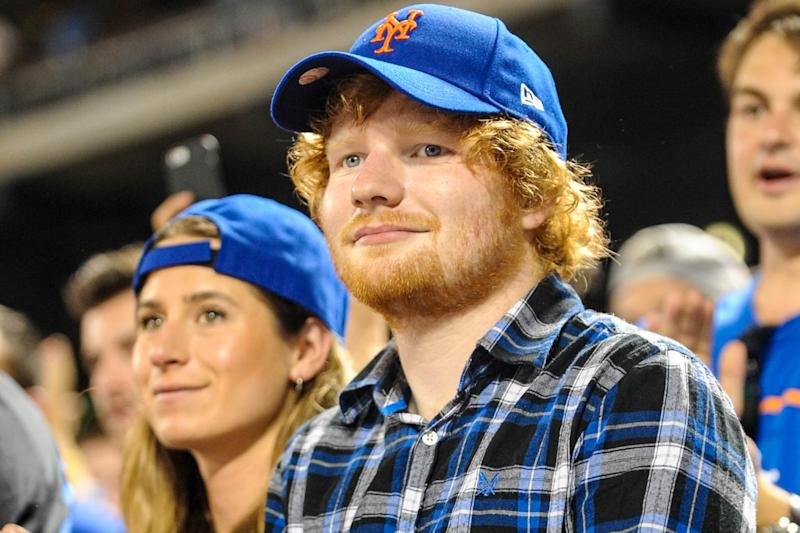 Romance: Ed Sheeran with his girlfriend Cherry Seaborn (INFphoto)