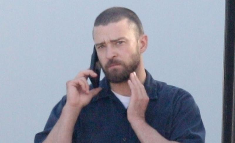 "Justin Timberlake reports to ""Palmer"" set. (Photo: Backgrid)"