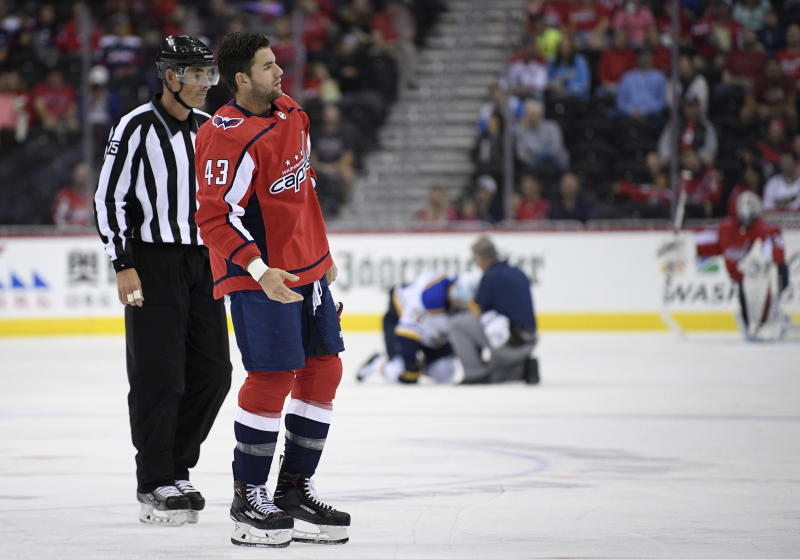 Capitals' Tom Wilson could face suspension for hit in pre-season game