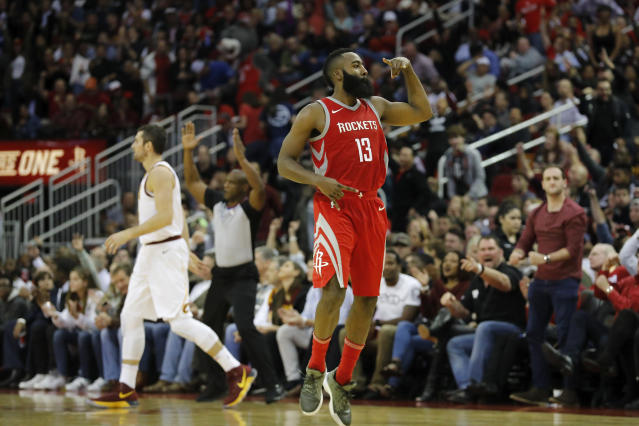 James Harden kept cooking against the Cavaliers. (Getty)