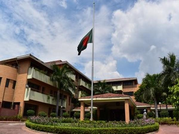 Bangladesh national flag flew at half-mast at the Bangladesh High Commission here on Wednesday.