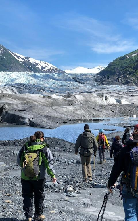 Heather Szundy says the tour guides witnessed ice deterioration and lost walk-on access to some glaciers at the end of summer 2018 - Credit: Ascending Path, LLC