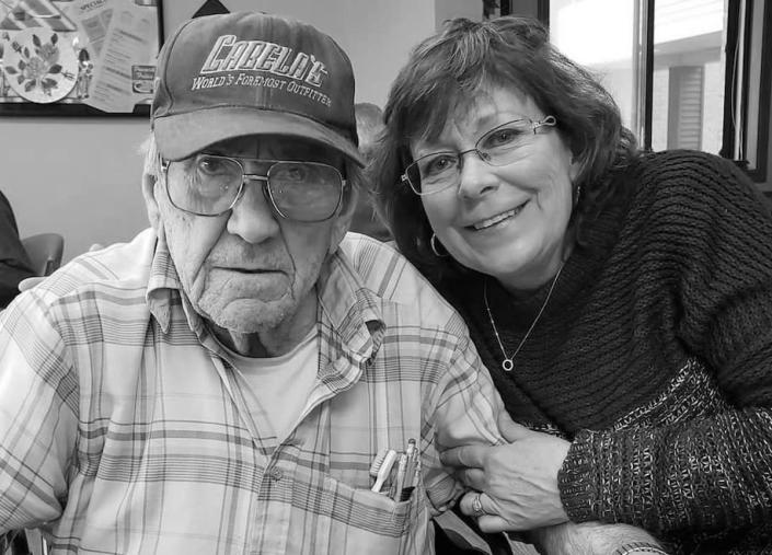 Tammy Roberg with her father, Chester Peske. (Courtesy of Tammy Roberg)
