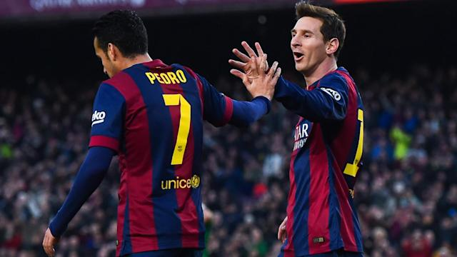 Chelsea forward Pedro hopes his team can find a way to contain Barcelona star Lionel Messi.