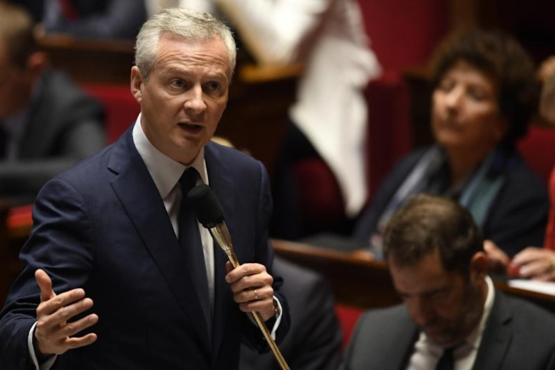 """French Economy Minister Bruno Le Maire said """"the current circumstances do not allow me to go to Riyadh"""" for a conference"""