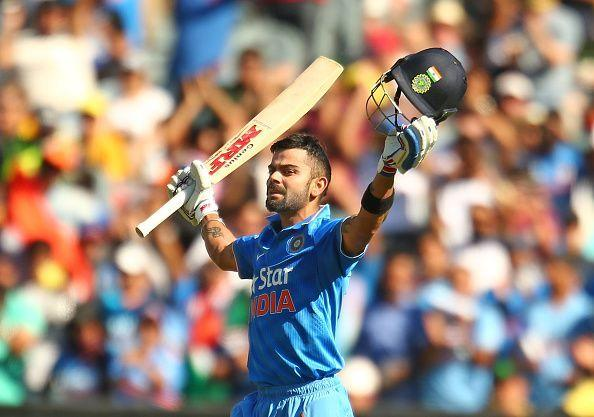 Virat Kohli celebrating yet another century