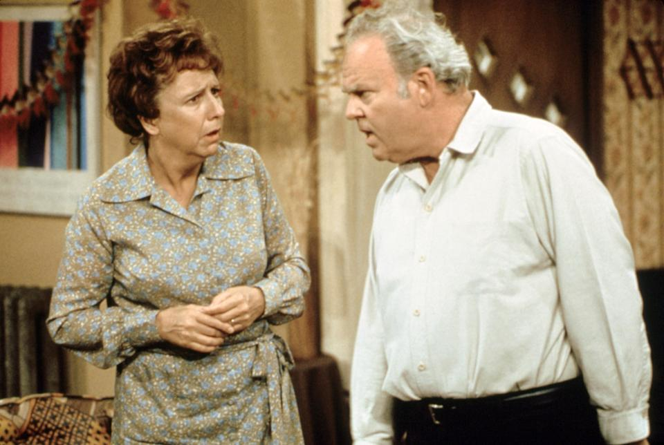 ALL IN THE FAMILY, Jean Stapleton, Carroll O'Connor, 1971-79 | Courtesy Everett Collection—Courtesy Everett Collection