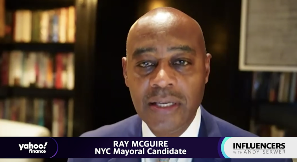 "Ray McGuire, a New York City mayoral candidate and former vice chairman at Citigroup, appears on ""Influencers with Andy Serwer."""