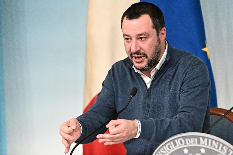 Salvini has said he was not worried about the vote (AFP Photo/Vincenzo PINTO                      )