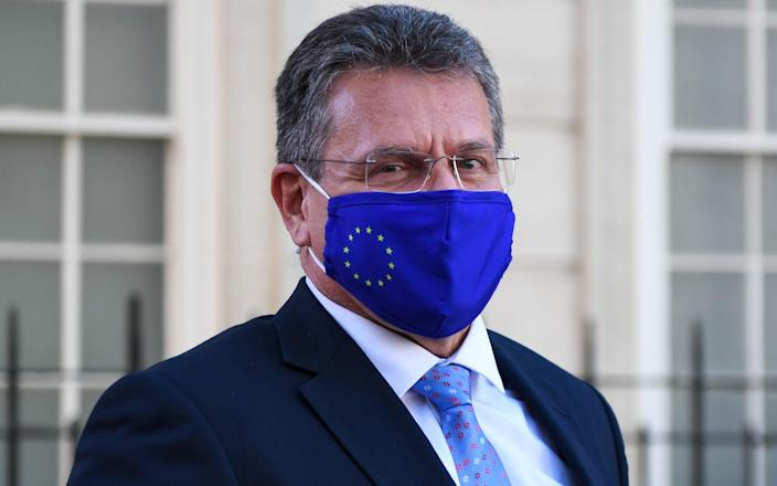 Maros Sefcovic again urged Britain to submit to a Swiss-style agreement - Chris J. Ratcliffe/Bloomberg