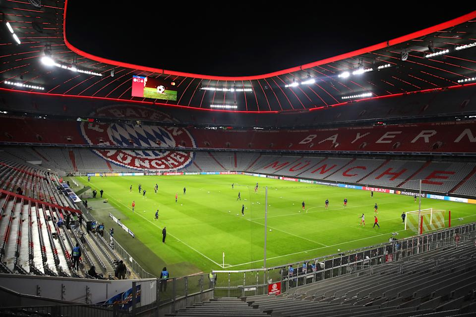 Allianz Arena, em Munique. Foto: Alexander Hassenstein/Getty Images