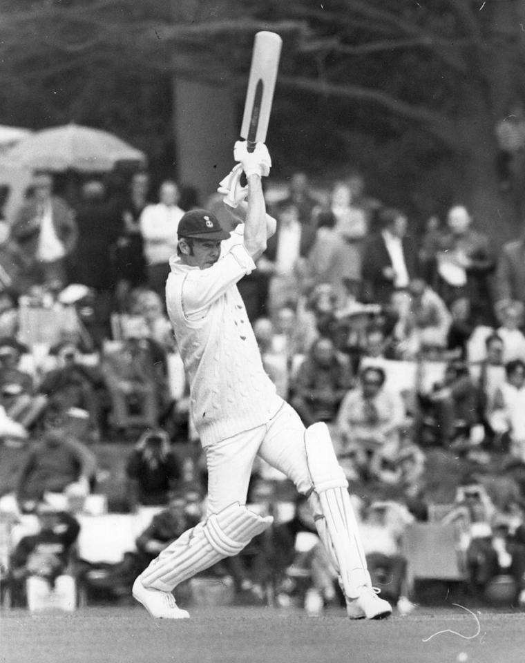24th April 1972:  Tony Greig in action for the Duke of Norfolk's XI.  (Photo by Central Press/Getty Images)
