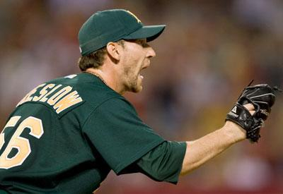 The A's nominee for the Roberto Clemente Award this year, Craig Breslow is well aware a bigger name will likely earn the honor at least until he's better known