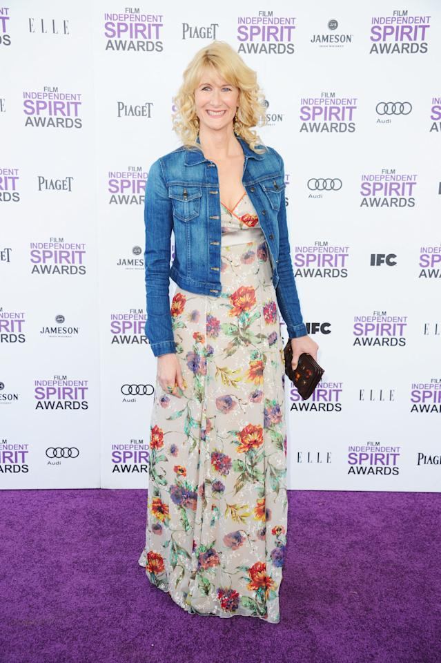 SANTA MONICA, CA - FEBRUARY 25:  Actress Laura Dern arrives at the 2012 Film Independent Spirit Awards on February 25, 2012 in Santa Monica, California.  (Photo by Alberto E. Rodriguez/Getty Images)