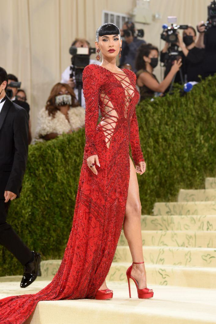 """Megan Fox attends The Metropolitan Museum of Art's Costume Institute benefit gala celebrating the opening of the """"In America: A Lexicon of Fashion"""" exhibition on Monday, Sept. 13, 2021, in New York. - Credit: AP"""