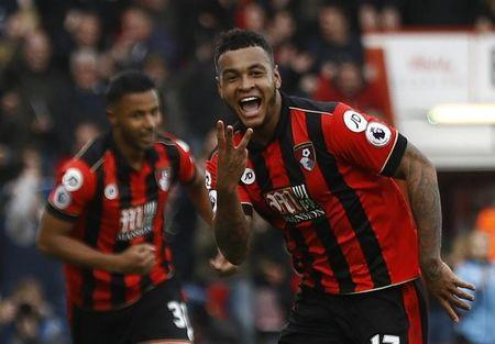 Britain Football Soccer - AFC Bournemouth v West Ham United - Premier League - Vitality Stadium - 11/3/17 Bournemouth's Joshua King celebrates scoring their third goal to complete his hat trick  Reuters / Peter Nicholls Livepic