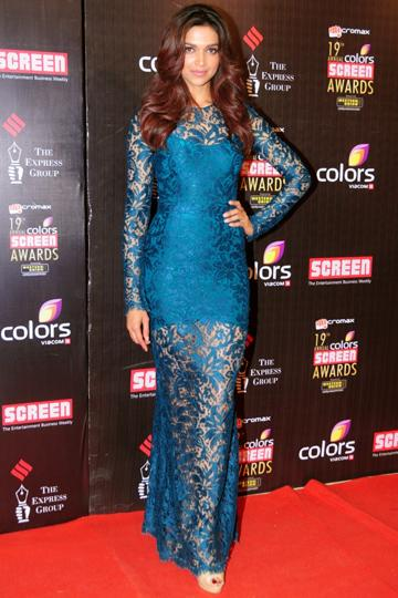 Deepika Padukone wears Dolce and Gabbana to the Colors Screen Awards