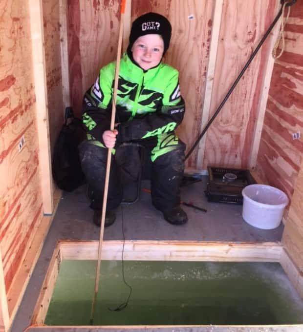 Matt Perry is hoping to catch some smelts.