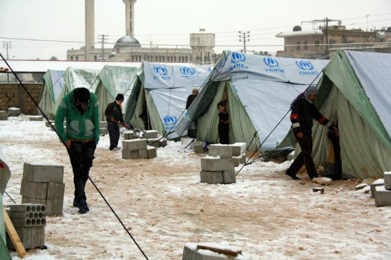 Many Syrian refugees in countries such as Lebanon are struggling to survive freezing temperatures and torrential rains in makeshift shelters