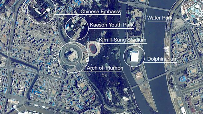 Pyongyang north korea urthecast video labeled