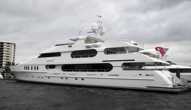 "Tiger Woods will stay on his yacht, named ""Privacy,"" which is docked near Shinnecock Hills, site of next week's U.S. Open. (AP)"