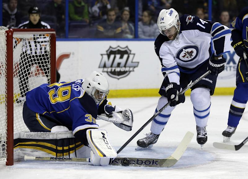Backes scores 2, Miller wins again for Blues