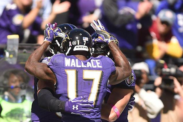 "<a class=""link rapid-noclick-resp"" href=""/nfl/players/9348/"" data-ylk=""slk:Mike Wallace"">Mike Wallace</a>, the 1000-yard receiver ignored by fantasy owners. (Photo by Mitchell Layton/Getty Images)"