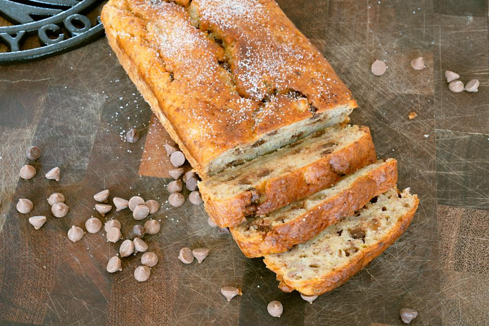 Banana bread with chocolate chips (Andrew Bowden-Smith)
