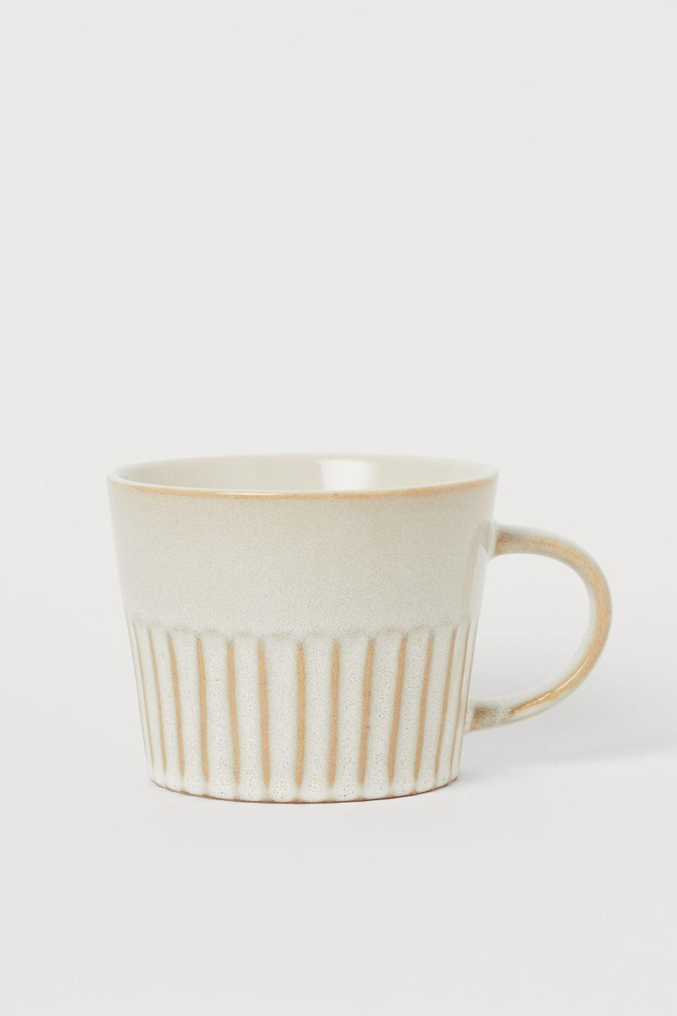 <p>We can't think of a cup more elegant than this stylish <span>H&amp;M Ceramic Mug</span> ($10). It's the type you'll want to leave on display long after using it.</p>