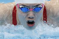<p>Yufei of China wins gold in the women's 200m butterfly.</p>
