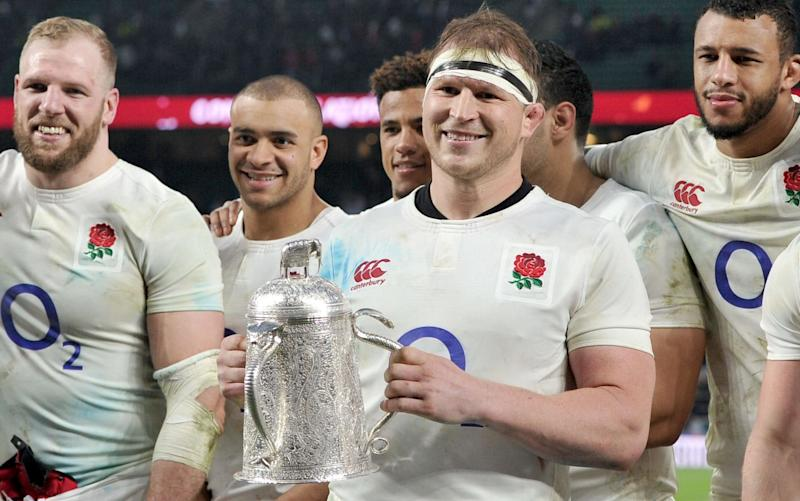 Dylan Hartley and his England team-mates will face a stern test in Dublin on Saturday - Copyright (c) 2017 Rex Features. No use without permission.