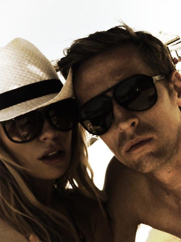 Celebrity Twitpics: Abbey Clancy and her husband Peter Crouch tweeted this photo of themselves from a holiday they recently had. Copyright [Abbey Clancy]