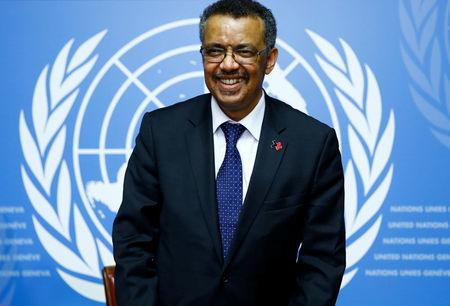 Newly elected Director-General of the World Health Organization (WHO) Tedros Adhanom Ghebreyesus attends a news conference at the United Nations in Geneva, Switzerland, May 24, 2017.  REUTERS/Denis Balibouse