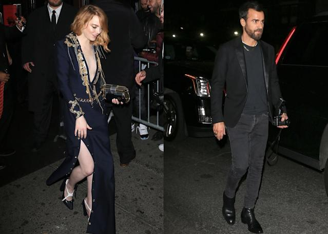 Emma Stone and Justin Theroux (Photo: Backgrid)