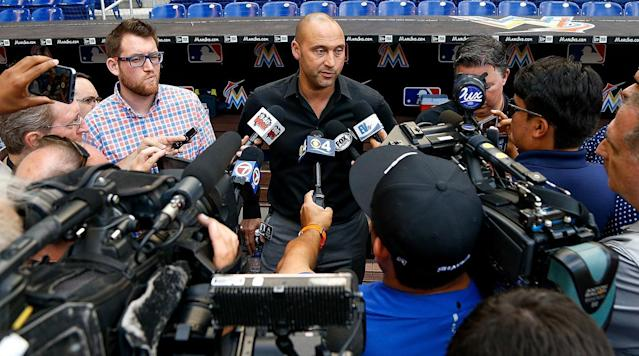 Marlins CEO Derek Jeter will sit out a trip to his old stomping grounds.