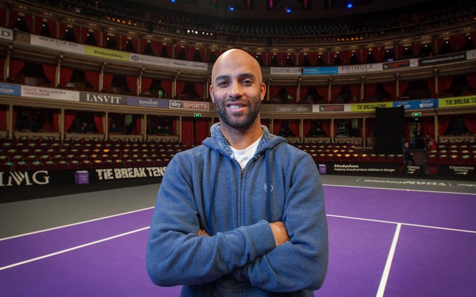 Portraits of tennis player James Blake taken at The Royal Albert Hall where he is participating in the 'Champions Tennis' Tour event - Julian Andrews