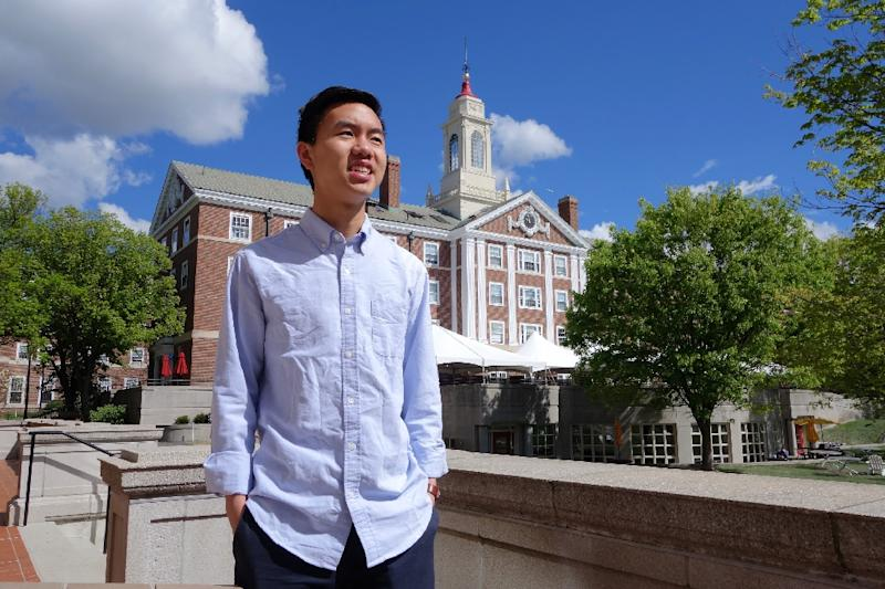 Harvard University student Will Long says he voted for US President Donald Trump, but admits he was uncomfortable broadcasting that fact right after the election (AFP Photo/William EDWARDS)