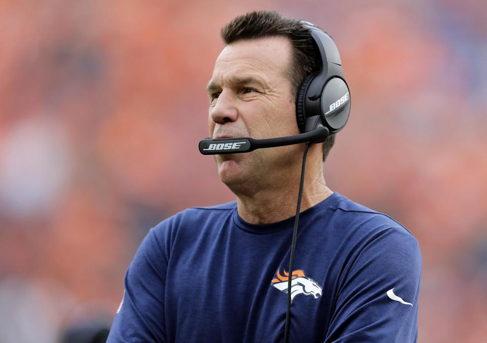Gary Kubiak is stepping down as Denver Broncos head coach. (AP)