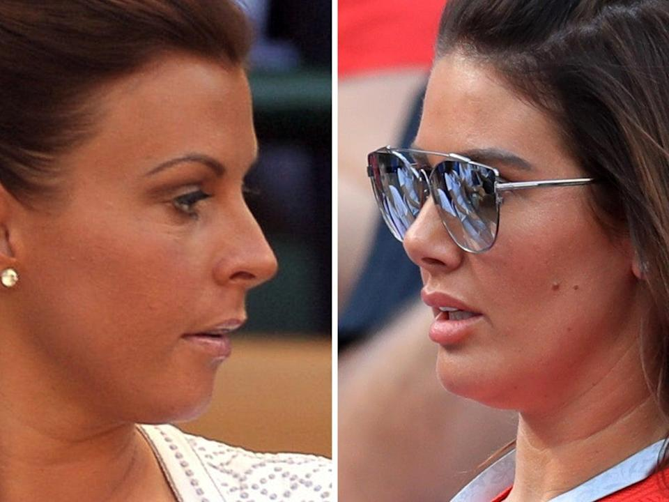 Rebekah Vardy (right) is suing Coleen Rooney (left) for libel after she accused her of selling false stories to the press (PA)
