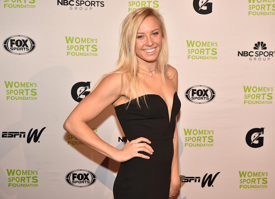 NEW YORK, NY - OCTOBER 19:  Paralympic Swimmer Jessica Long attends the 37th Annual Salute To Women In Sports Gala at Cipriani Wall Street on October 19, 2016 in New York City.  (Photo by Theo Wargo/Getty Images for Women's Sports Foundation )
