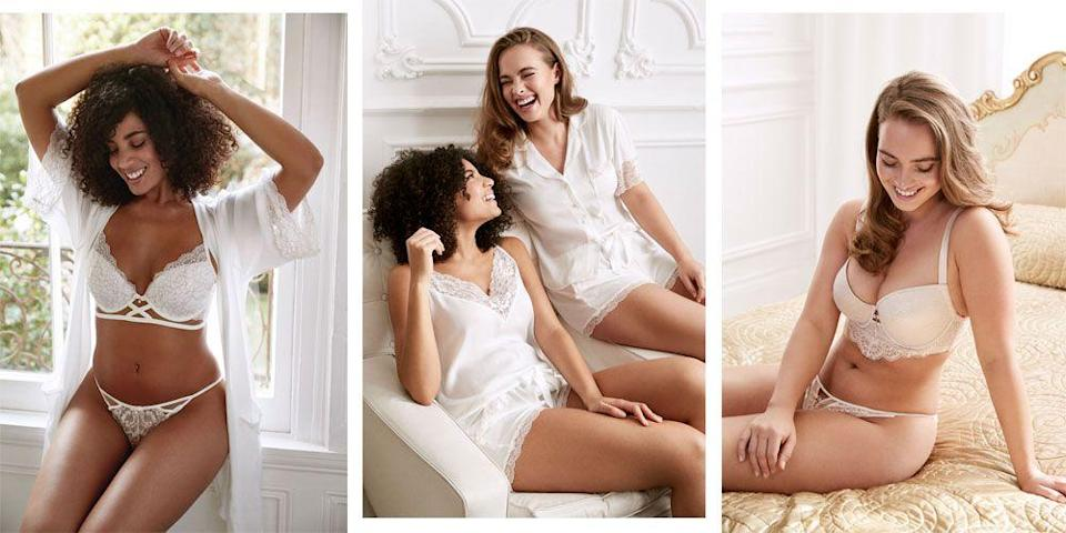 """<p>With wedding fever sweeping across the high street - Topshop, Whistles, Ted Baker and Missguided are just a few of the brands to launch <a href=""""http://www.cosmopolitan.com/uk/fashion/style/g4924/high-street-brands-that-sell-wedding-dresses/"""" rel=""""nofollow noopener"""" target=""""_blank"""" data-ylk=""""slk:wedding dress collections"""" class=""""link rapid-noclick-resp"""">wedding dress collections</a> in the last year - it was only a matter of time before Primark joined the party.</p><p>Before you get all over-excited, the brand has not yet announced any wedding dress collection plans, but Primark has unveiled a new bridal range which contains so much more.</p><p>Think: PJs, bridal party nightgowns, silky robes and lingerie as well as wedding day accessories like guest book ideas, clutch bags and things for the hen do like Team Bride t-shirts, slides and jewellery. Plus a VERY cute Minnie and Mickey Mouse selection of products that we can't wait to get our hands on. </p><p>See our fave picks from the new range here...</p>"""