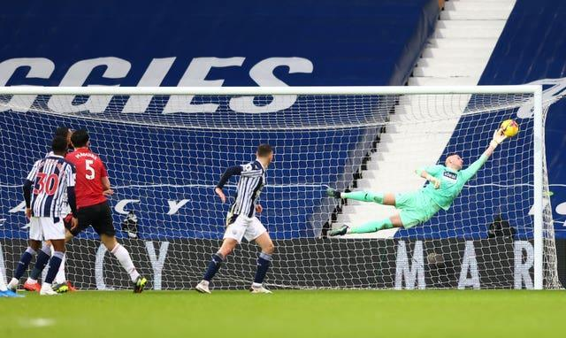 Sam Johnstone makes a stunning last-minute save to deny Harry Maguire a winner in West Brom's 1-1 home draw with Manchester United