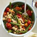 """<p>In only 25 minutes, you'll have a colorful salad, filled with goodies like chickpeas, cannellini beans, green beans, and cherry tomatoes. </p><p><a href=""""https://www.womansday.com/food-recipes/food-drinks/a27484467/three-bean-salad-recipe/"""" rel=""""nofollow noopener"""" target=""""_blank"""" data-ylk=""""slk:Get the recipe for Three Bean Salad."""" class=""""link rapid-noclick-resp""""><strong><em>Get the recipe for Three Bean Salad.</em></strong></a></p>"""