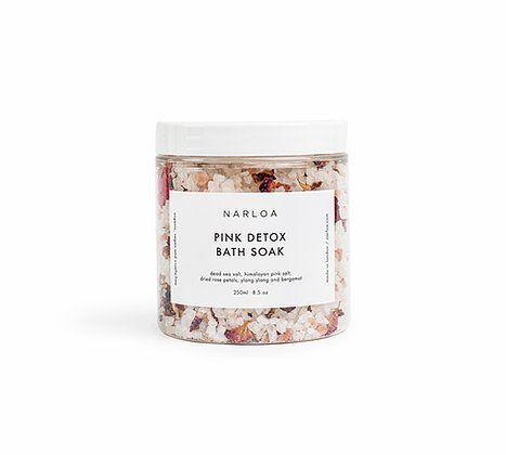 """<p><a class=""""link rapid-noclick-resp"""" href=""""https://www.narloa.com/product-page/pink-detox-bath-soak"""" rel=""""nofollow noopener"""" target=""""_blank"""" data-ylk=""""slk:SHOP NOW"""">SHOP NOW</a></p><p>Give the gift of a good soak this festive season with these delightful bath salts. They feature a mix of essential oils to release any aches and tensions in the body, whilst helping you find your inner zen. </p>"""
