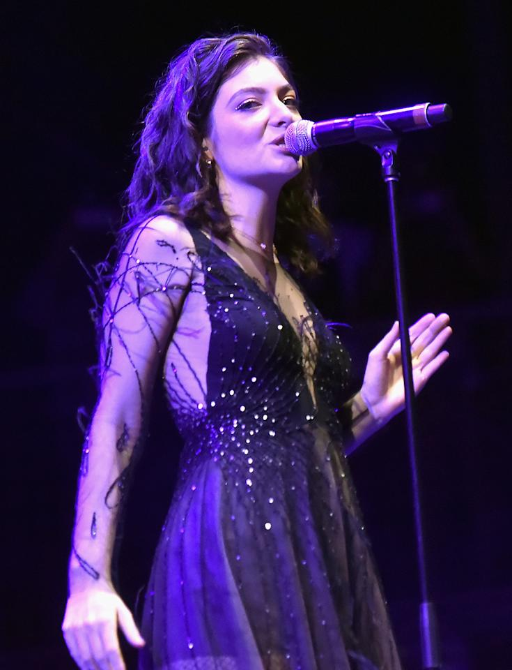 <p>Lorde performs on Downtown Stage during day 1 of the 2017 Life Is Beautiful Festival on September 22, 2017 in Las Vegas, Nevada.<br />(Photo by Jeff Kravitz/FilmMagic ) </p>