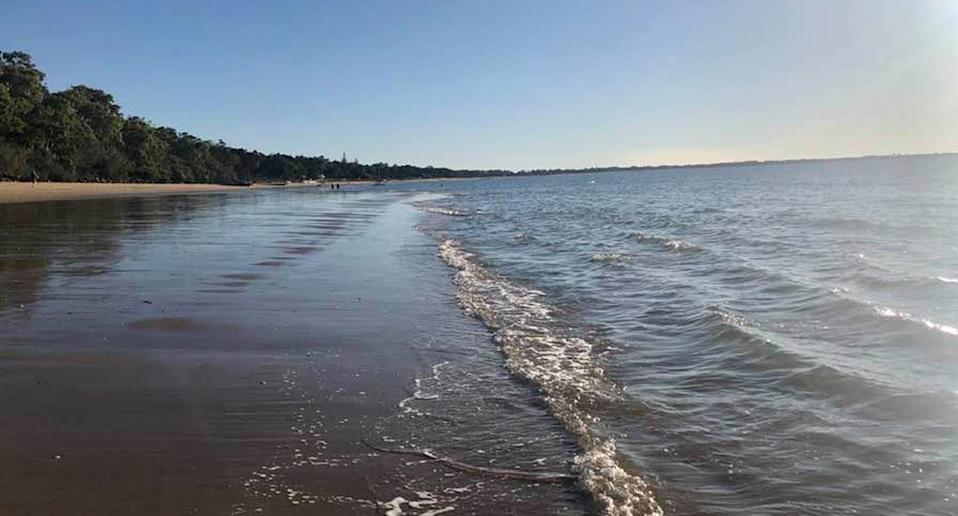The sea snake was spotted on Torquay Beach, Hervey Bay (pictured) on Tuesday. Source: Facebook