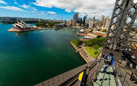 Sydney Harbour Bridge Climb, Australia - Credit: Alamy